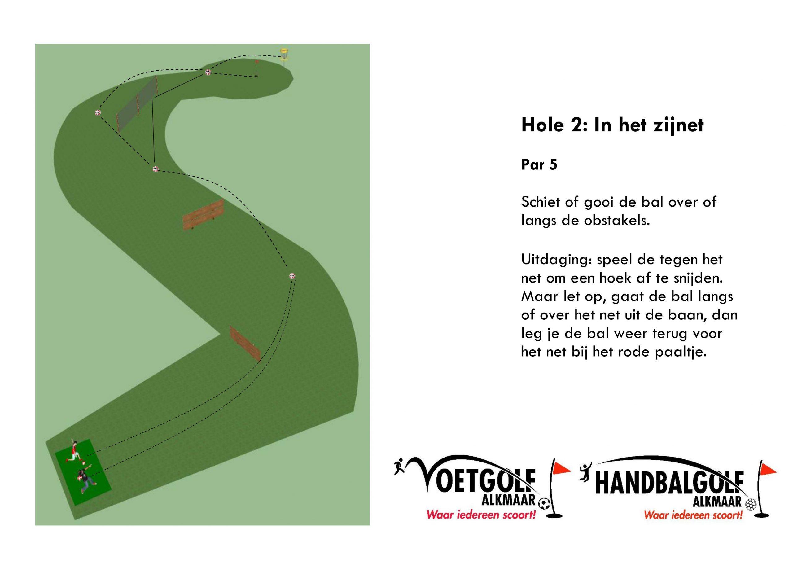 Hole 2 met handbal