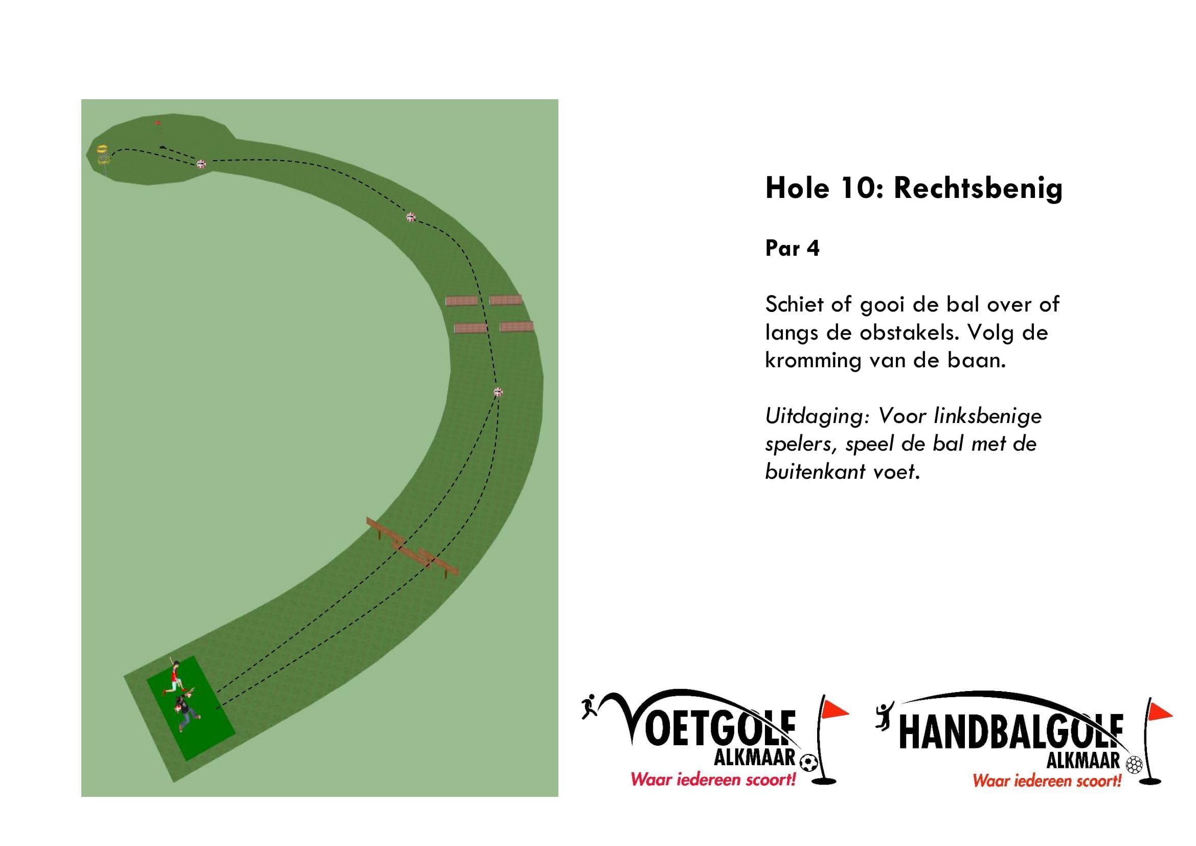 hole 10 met handbal