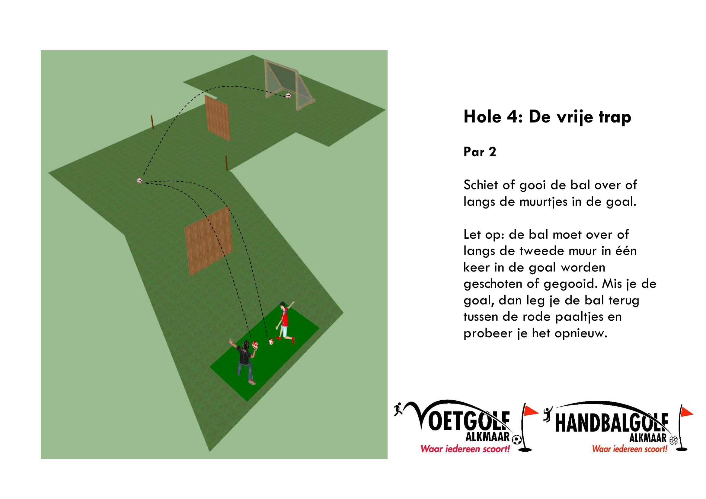 hole 4 met handbal