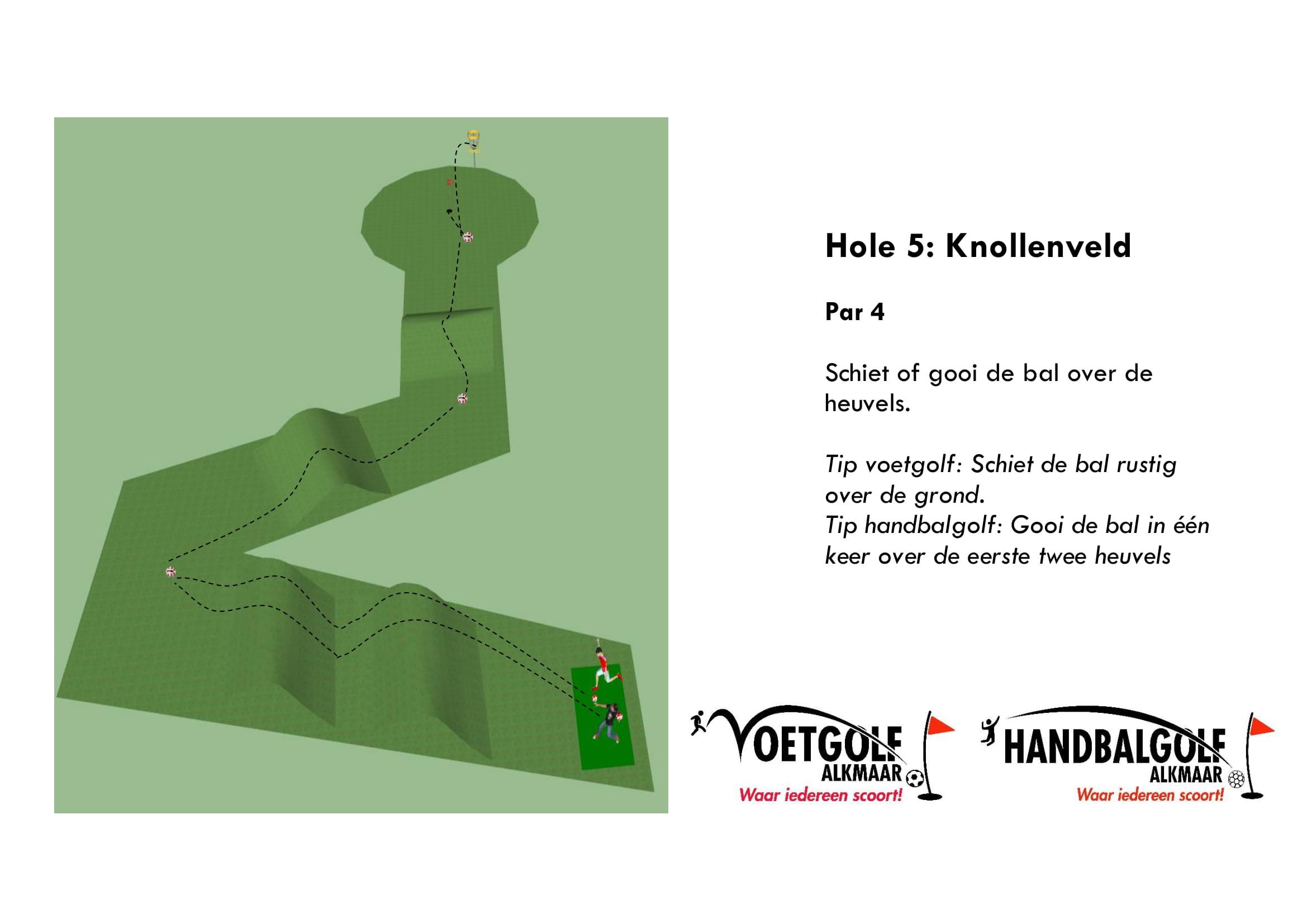 hole 5 met handbal