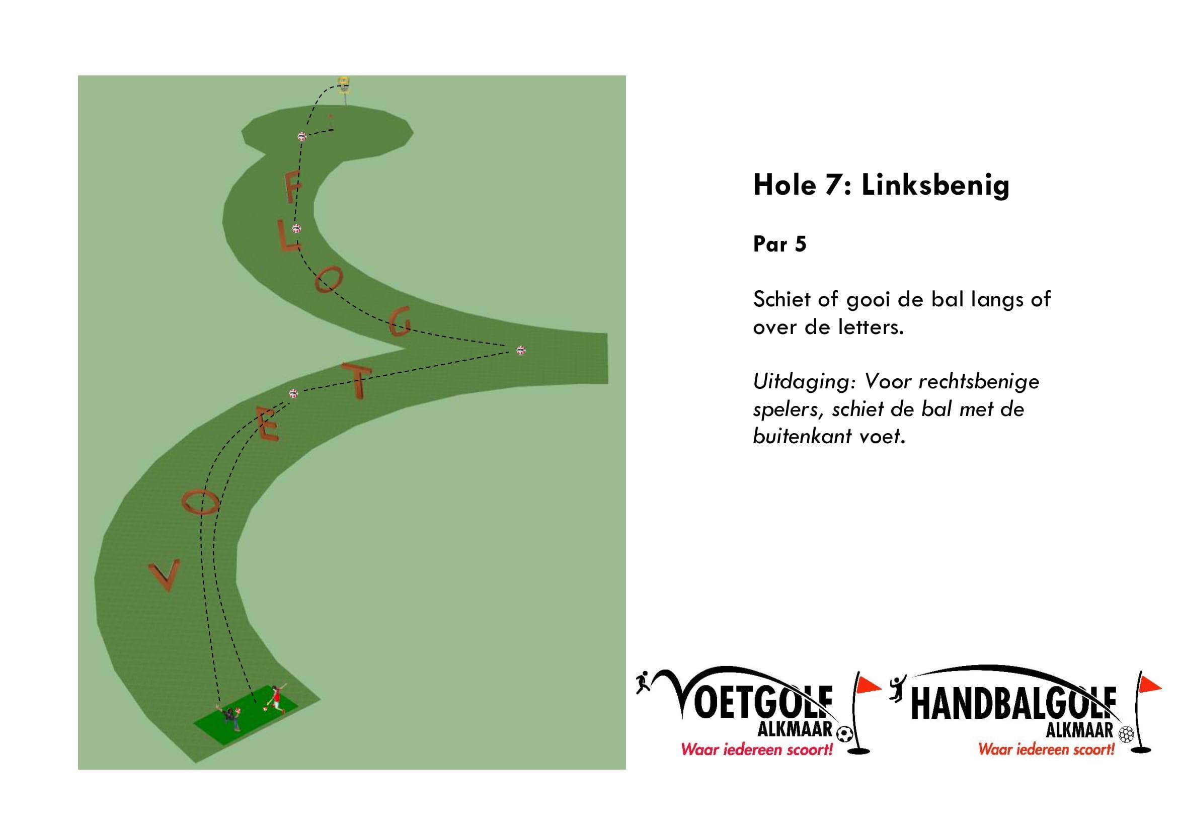 hole 7 met handbal